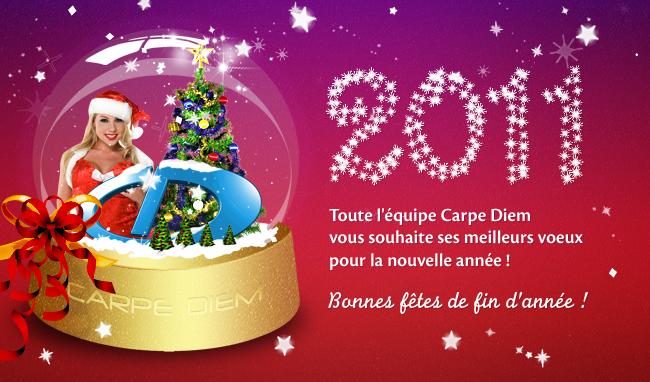 Léquipe Carpe Diem vous souhaite le meilleur pour 2011 !
